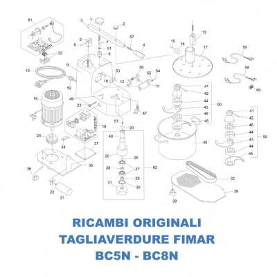 Esploso ricambi per tagliaverdure Fimar BC5N - BC8N - Fimar