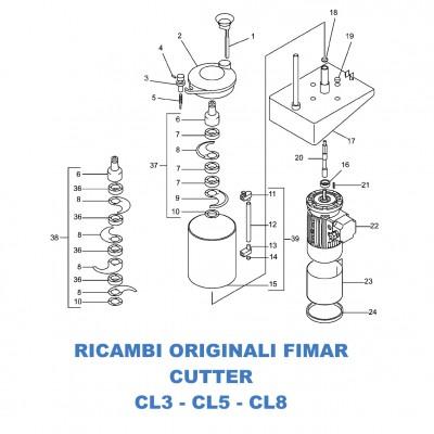 Esploso ricambi per Cutter professionale Fimar modelli CL3 CL5 CL8 - Fimar