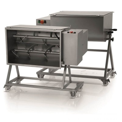 Professional 75Kg single-blade professional dough mixer with trolley. FIC75M