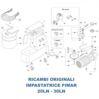 Esploso ricambi per impastatrice Fimar modelli 20LN 30LN - Fimar