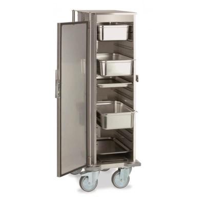 Carrello armadiato riscaldato professionale per GN 1/1 Thermovega L10 per il trasporto di vivande calde - Rocam