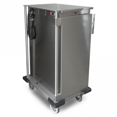 Carrello armadiato basso riscaldato professionale per GN 1/1 Thermovega SH C10 per il trasporto di vivande calde - Rocam