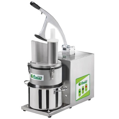 Professional electric vegetable cutter AISI304 stainless steel frame and pot included. Ortolana 4000 - Fimar