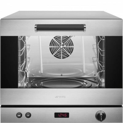 Single-phase humidified convection oven, electronic, 4 pans. ALFA43XEH - Smeg Professional