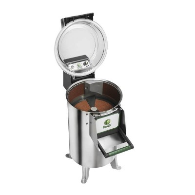 Professional 18 kg stainless steel potato peeler with raised feet. Model: PPN/18M - Fimar