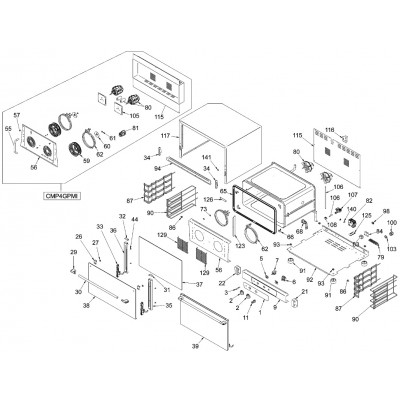 Esploso ricambi per Forno gastronomia elettrico a convezione Fimar CMP4GPM - CMO4GPMI - CMO423M - CMP332M - Fimar
