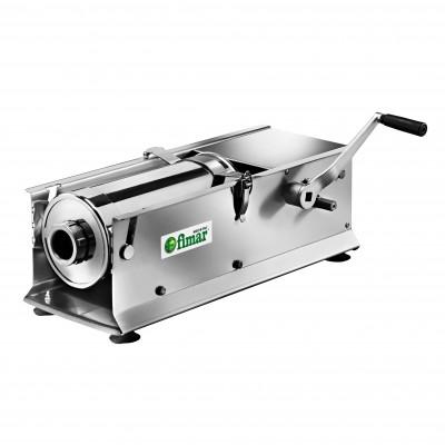Insaccatrice professionale orizzontale da 14 lt serie LT14OR, in acciaio inossidabile a 2 velocità. - Fimar