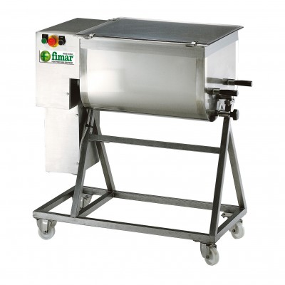 Professional 75Kg single-blade professional dough mixer with trolley. 75C1PN - Fimar