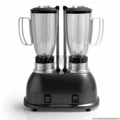 MT1D Frullatore professionale doppio con 2 velocità. Bicchieri da 1,5 lt trasparenti. - Fama industrie