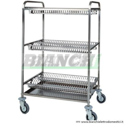 Dish draining trolley with four shelves - Forcar