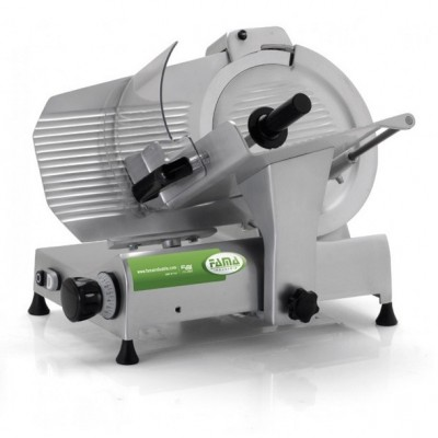 Eco series gravity slicer with Ø 300 mm blade and small base, for professional use. - Fame industries