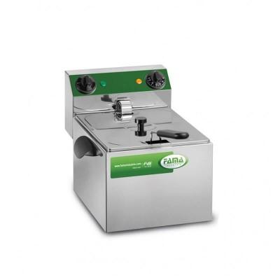 Steel fryer with single tank of 8 liters -