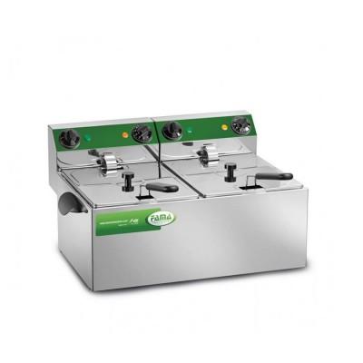 Steel fryer with double tank of 8 8 liters - Fama industrie