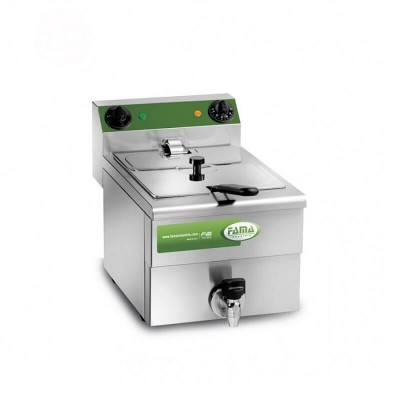 Professional deep fat fryer with tap and 10 litre tub -