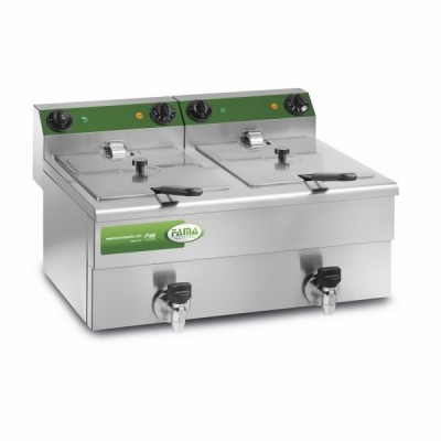 Professional double tank fryer 10 10 litres with tap -