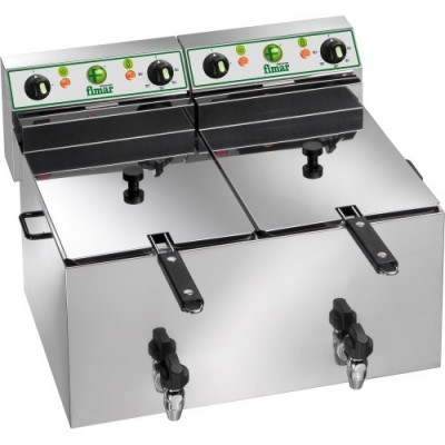 Professional deep fryer with double basin 12 12 litres. FR1010R
