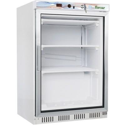 Negative refrigerator 130 Lt. with glass door -18/-22°C. H 85,5 cm - Forcar