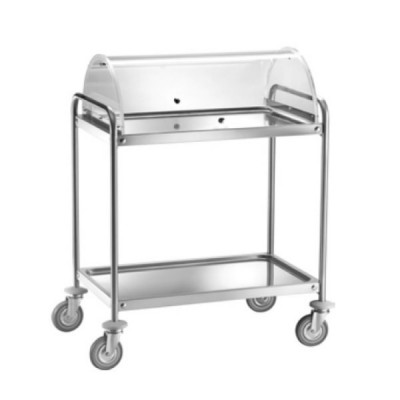 Service trolley width 90cm. Stainless steel for sweet cheeses and appetizers CA1390C - Forcar