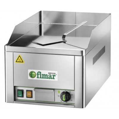 Fry Top electric bench top with chromed steel plate. - Fimar