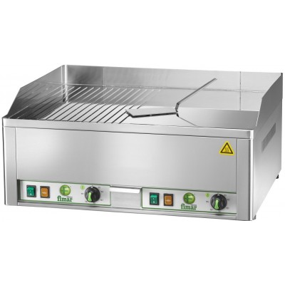 Electric FryTop countertop with chrome-plated steel plate. - Fimar