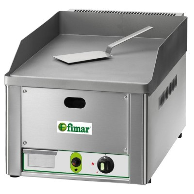 FryTop gas-fired benchtop with mild steel plate. - Fimar
