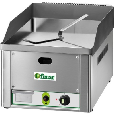 Fry Top Gas Countertop with chrome-plated hob. - Fimar