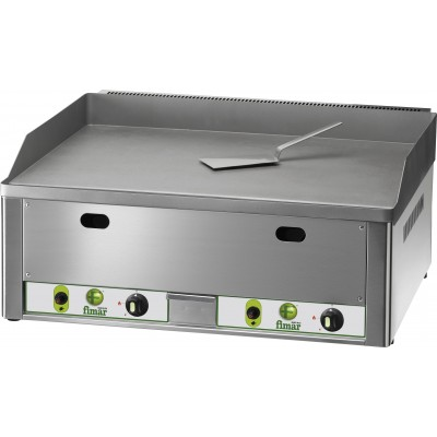 Fry Top gas-fired bench top with brushed steel plate. - Fimar