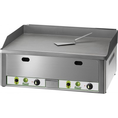 Fry Top Gas Countertop with chrome-plated steel plate. - Fimar