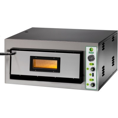 Electric stainless steel pizza oven with refractory top. FME - Fimar series