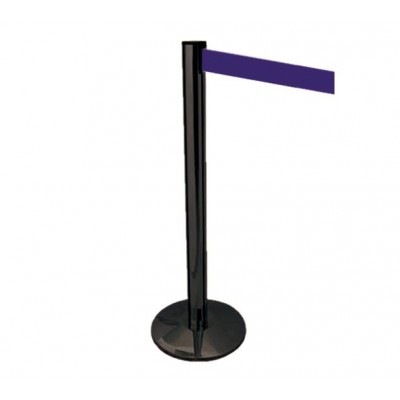 Rod Delimita black aisles height 100 cm with 2 meters tape - Forcar