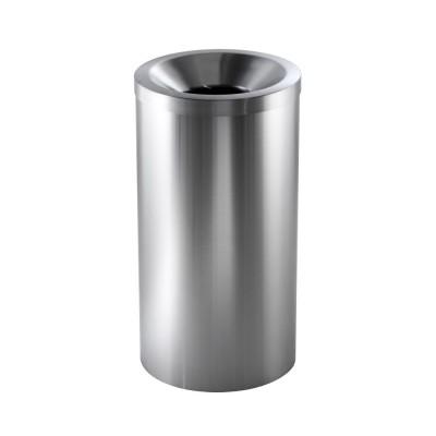 Pedal bin, self-extinguishing stainless steel 50 litres. rubber base AV4620 - Forcar