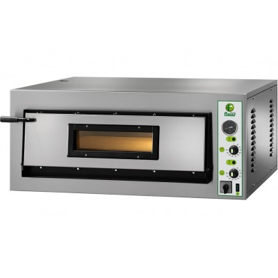 Pizza oven electric in stainless Steel with a floor of refractory material. Series FYL - Fimar