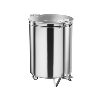 Rubbish bin stainless steel with wheels, pedal optional - Forcar