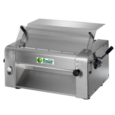 Dough sheeter stainless three-phase professional with steel roller 52 cm, opening 0-10 m. Mod: SI520 - Fimar