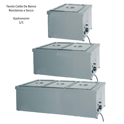 Hot GN 1/1-the-counter dry heating element made of stainless steel with thermostat. - Forcar