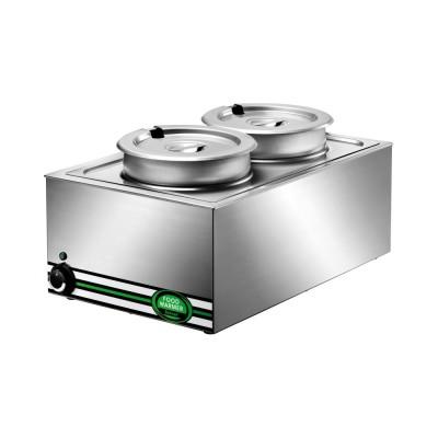 Hot GN 1/1 + pots-8 lt. bench bain marie stainless steel BM7720 - Forcar