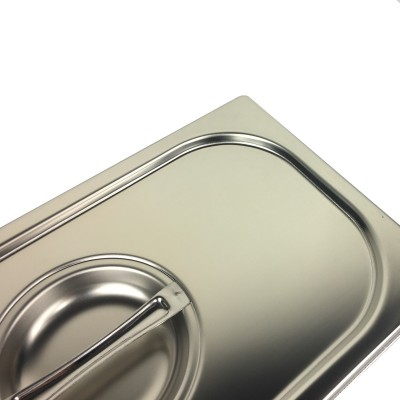 Coperchio in acciaio inox per bacinelle Gastronorm GN1/1 - Forcar