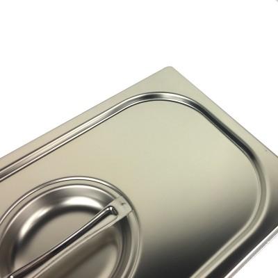 Coperchio in acciaio inox per bacinelle Gastronorm GN1/4 - Forcar