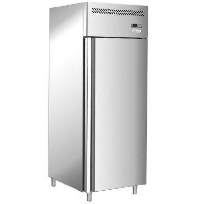 Professional ventilated refrigerator with single door in AISI201 stainless steel. GN650TNFC - Forcold