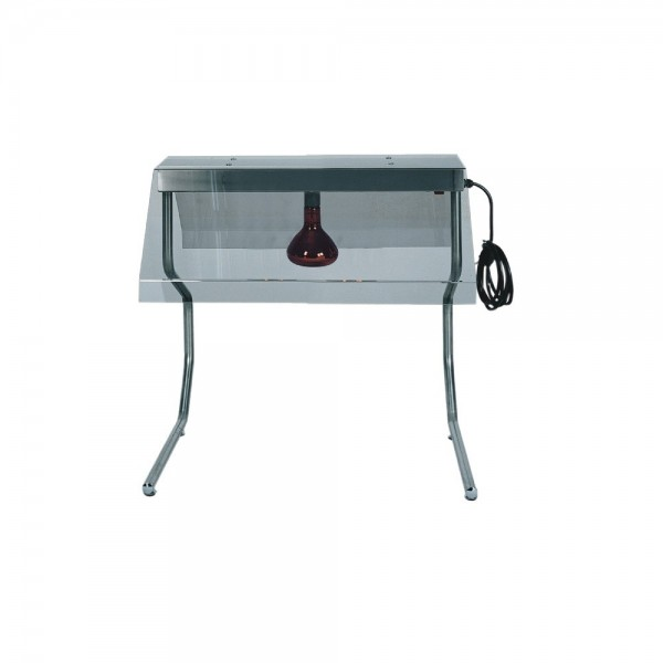 Frame with infrared lamps, and cover tinted stainless Steel Structure. - Forcar