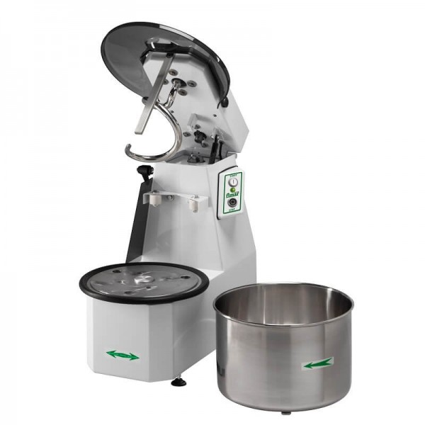 Spiral mixer 25 kg liftable head and removable bowl. Mod: 25CNS - Fimar