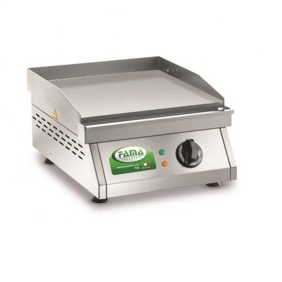 Griddle, electric, bench in stainless steel sandblasted. Model: PFT1L - Renown industries