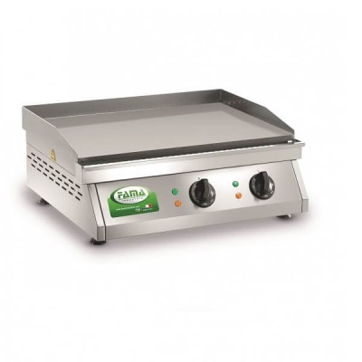 Griddle, electric, bench with plate in stainless steel sandblasted. Model: PFT2L - Renown industries