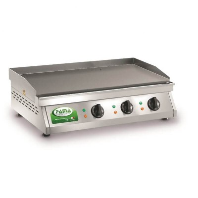 Fry Top electric professional with the plate in stainless steel sandblasted. Model: PFT3L - Renown industries
