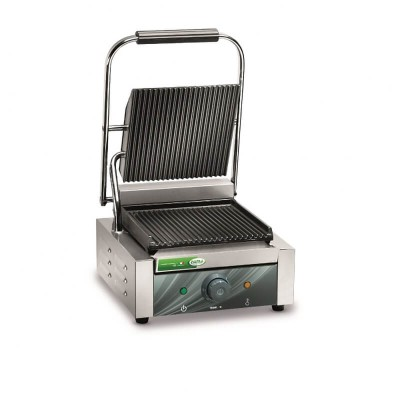 Cast iron plate with grooved surfaces, grill with thermostat. - Fame industries