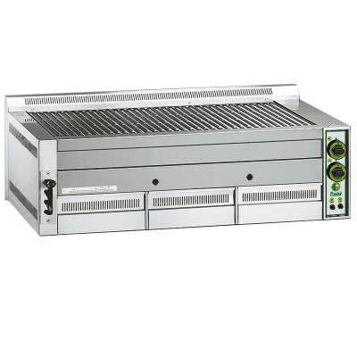 Lava stone grill with gas supply. B115 - Fimar