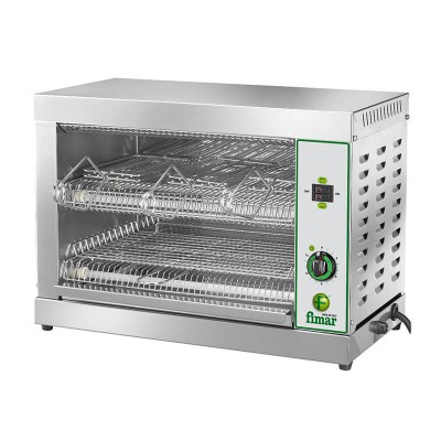 Bar toaster with 6 toast capacity. Stainless steel frame. Model: TOP6D - Fimar