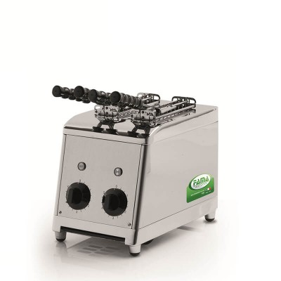 Professional vertical stainless steel toaster. Independent rooms. Model: MTP100 - Fama industries