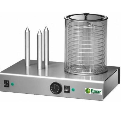 Macchina per riscaldare e cuocere wurstel e panini Fimar WD3 - Fimar