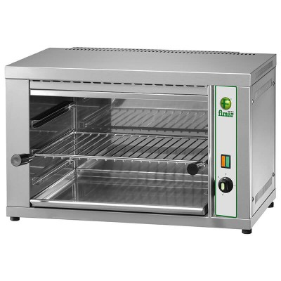 Professional salamander with stainless steel frame. Model: RS40 - Fimar